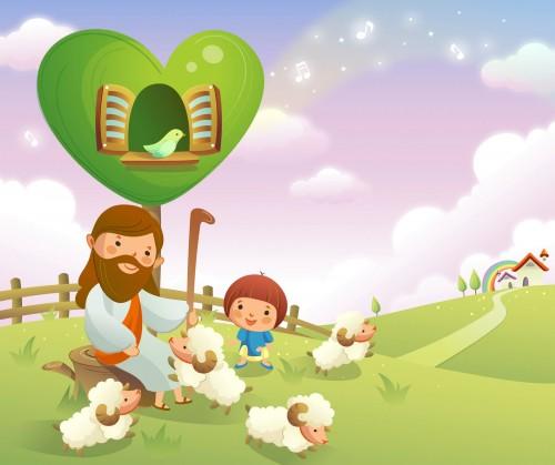 Vectores Cristianos 14 e1346193565755 Imágenes de Jesús para niños