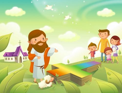 Vectores Cristianos e1346193635553 Imágenes de Jesús para niños