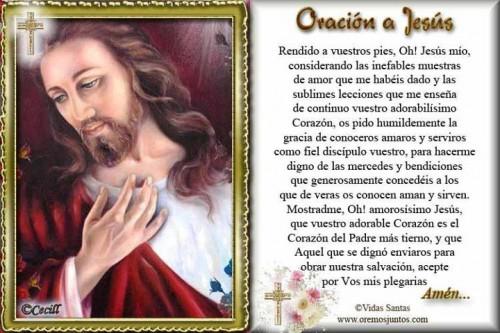 oración a jesús e1345584416296 Imágenes con oración a Jesús