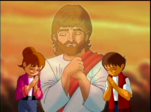 Jesus orando con niños