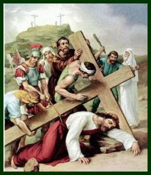 9ª ESTACION e1347328228495 Imagenes de Jesus en el via crucis