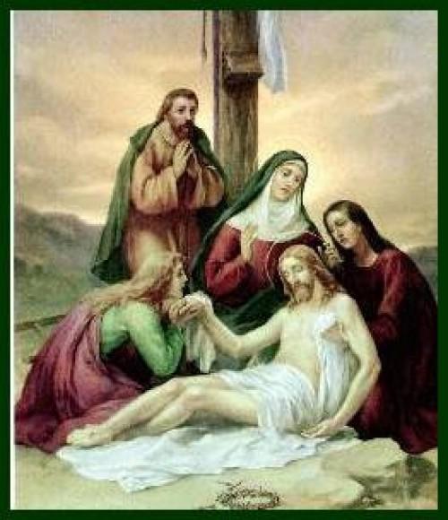 Via Crucis 12 Jesus es bajado de la Cruz e1347328018202 Imagenes de Jesus en el via crucis