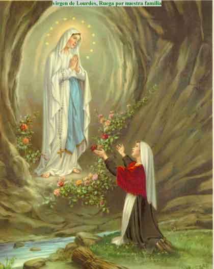 VirgenLourdes Gruta Imágenes de la Virgen de Lourdes