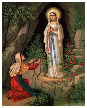 virgen de lourdes Imágenes de la Virgen de Lourdes