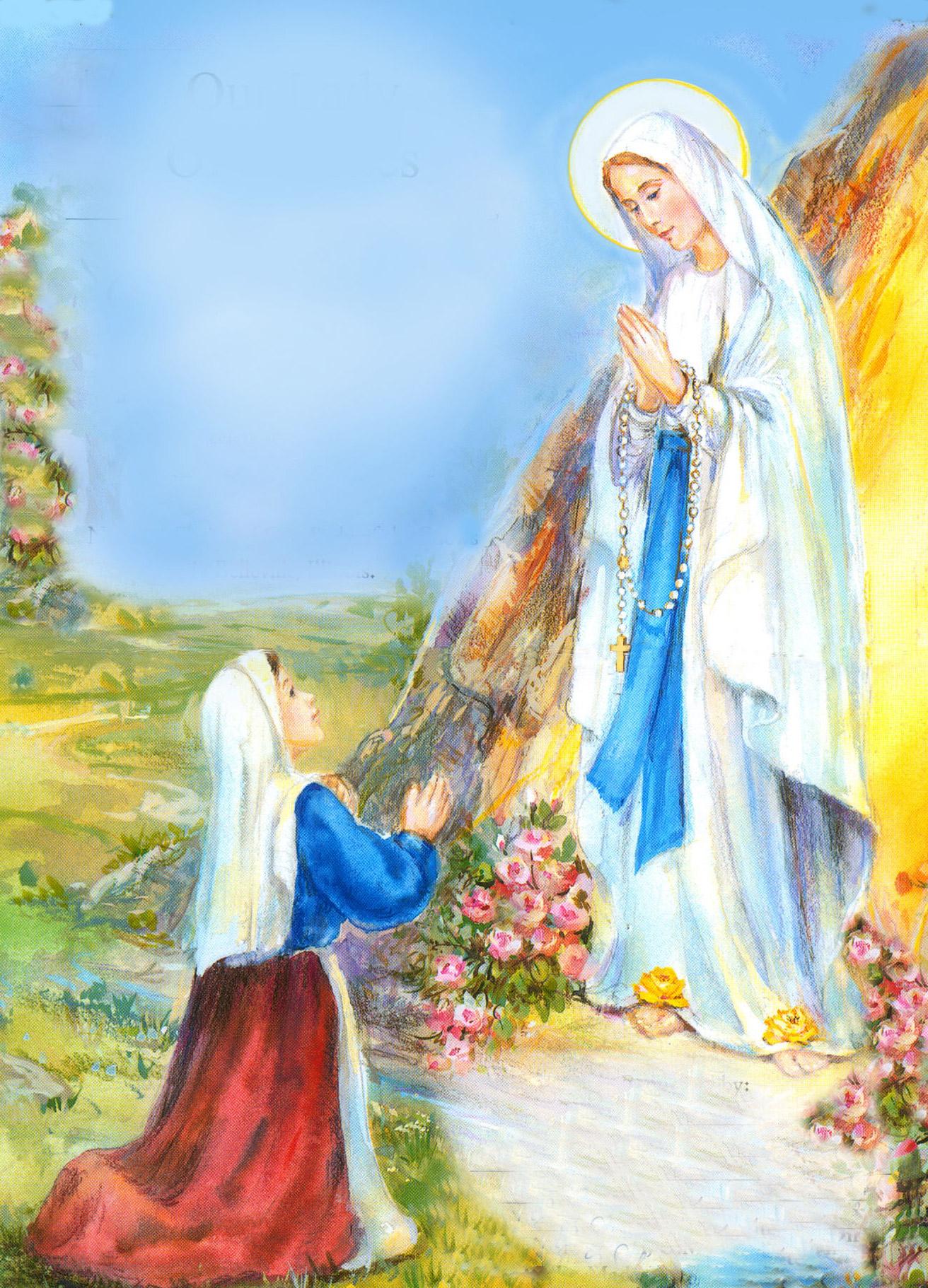 virgen de lourdes1 Imágenes de la Virgen de Lourdes