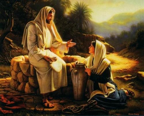 Jesus y la samaritana e1350694900326 Imágenes de Jesús y la mujer samaritana