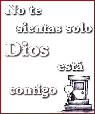 Tarjeta No te sientas solo Dios está contigo