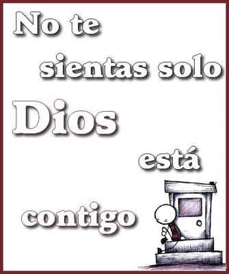 Tarjeta No te sientas solo Dios está contigo Dios está contigo