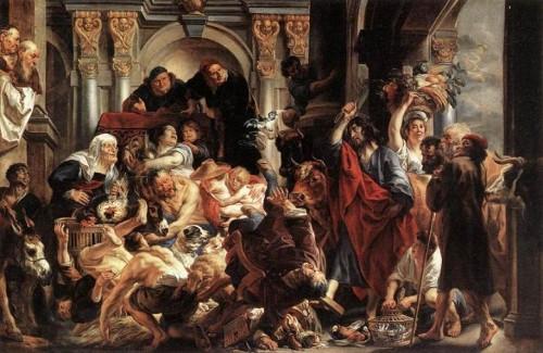 Cristo expulsando a los mercaderes del Templo Jacob Jordaens  e1352928171580 Imágenes de Jesús expulsando a los mercaderes del tempo