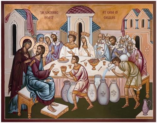 Jesús y María en la Boda en Caná e1352769815825 Imágenes de Jesús en la boda de Caná