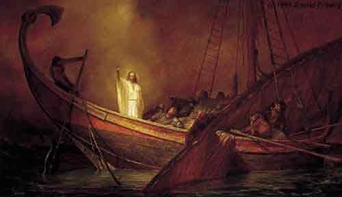 Jesus calma tempestad Jesús calmando la tempestad