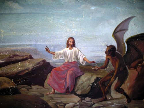 Jesus tentado por Satanas e1352498724145 Imágenes de Jesús tentado por Satanás