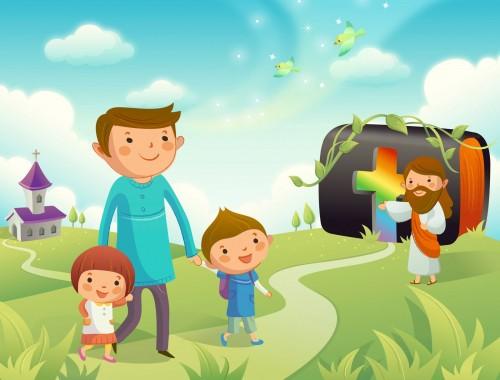 Jesus y la biblia e1352850214611 Imágenes infantiles de Jesús