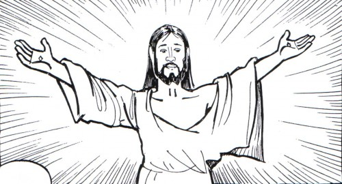 Imagenes del corazon de Jesus para pintar - Imagui