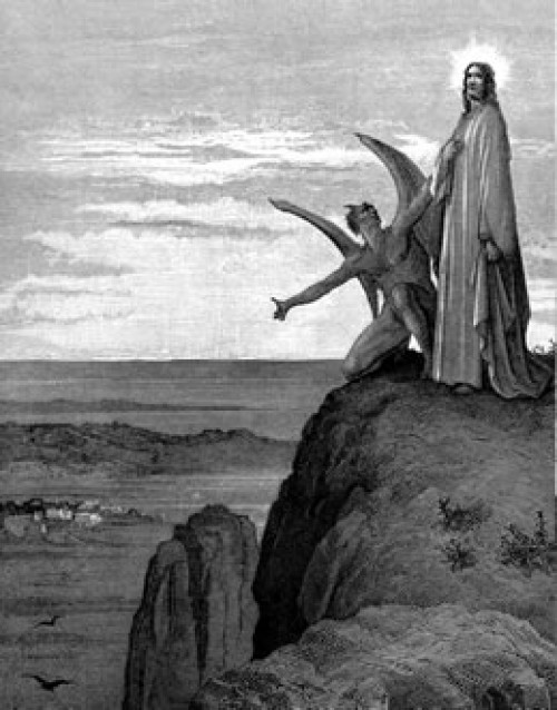 Imagenes de jesus tentado por satanas