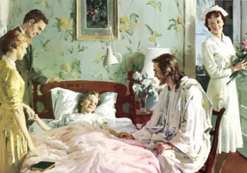 jesusenfermo e1352243919266 Imágenes de Jesús con los enfermos