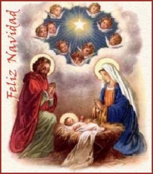 Feliz Navidad Clipart Portal de Belen 01 e1354570089180 Postales cristianas de navidad