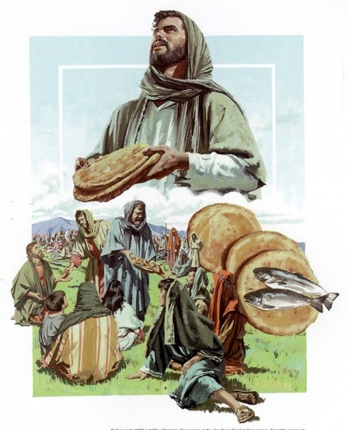 Imágenes de Jesús alimentando a cinco mil