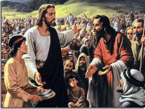 Jesus Alimenta a Cinco mil e1354767512524 Imágenes de Jesús alimentando a cinco mil