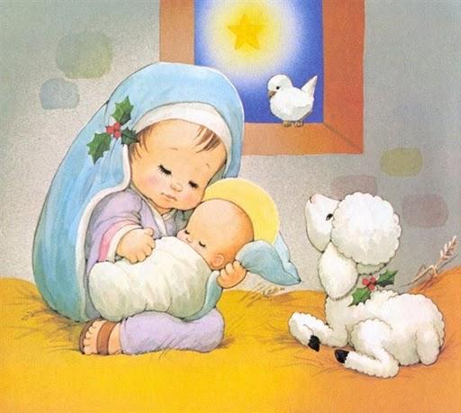 imagenparaimprimirdenavidadpostalinfantil13 Imágenes infantiles navideñas cristianas