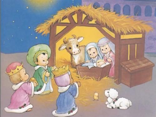 imagenparaimprimirdenavidadpostalinfantil7 e1356040936292 Imágenes infantiles navideñas cristianas