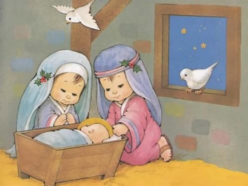 imagenparaimprimirdenavidadpostalinfantil9 e1356040982674 Imágenes infantiles navideñas cristianas