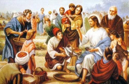jesus alimenta a muchos