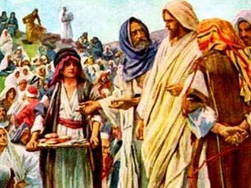 jesus alimenta como a cuatro mil e1354767316205 Imágenes de Jesús alimentando a cinco mil