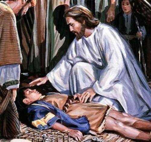 jesus curando a un enfermo