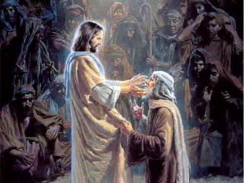 jesus le da sanidad a un leproso