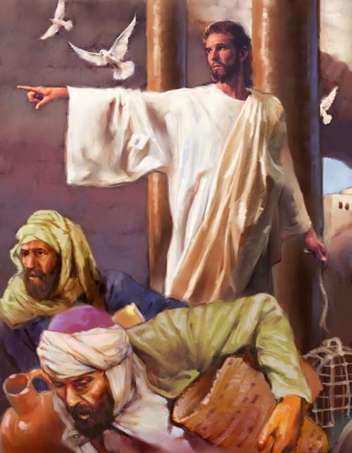 jesus se enojo de los mercaderes