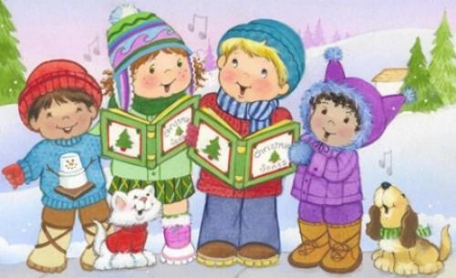 niños cantando villancico