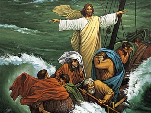 016 Jesús calma la tempestad e1357584682701 Imágenes de Jesús y sus milagros