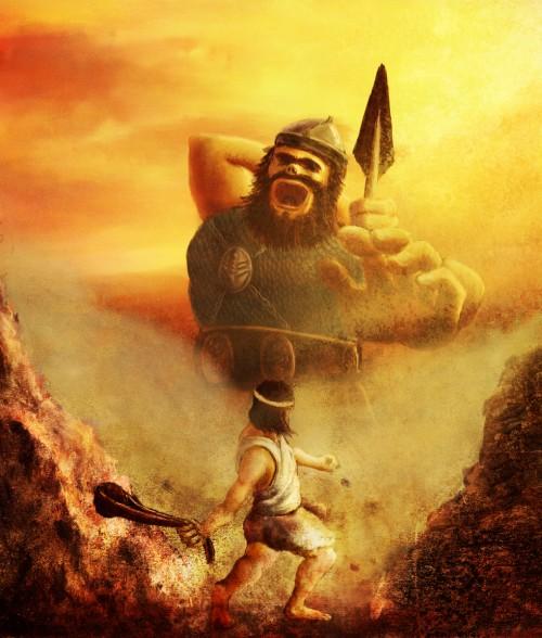 David vs Goliath e1357668019215 Imágenes de David contra Goliat