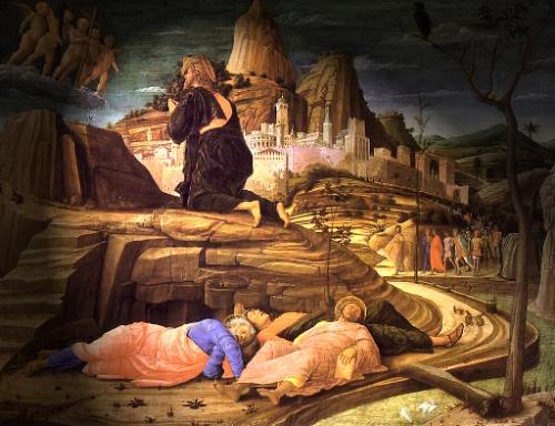 Jesus orando en Getsemani