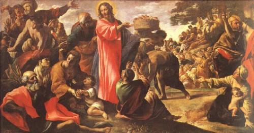 Jesús multiplica panes y peces Giovanni Lanfranco e1358447604103 multiplicación de los panes y los peces