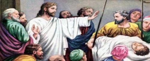 Jesus sana a un paralitico 2 Jesús cura al paralitico