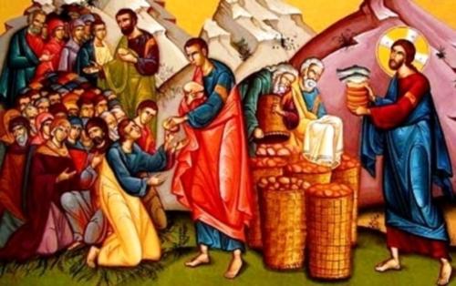 """Se conoce como el milagro de """"los panes"""" multiplicación de los panes y los peces"""