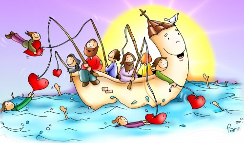 Ser�is pescadores de hombres... e1359493102592 Imágenes de Jesús pescando
