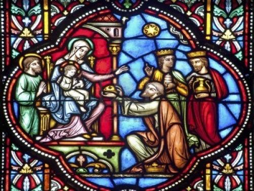 Vidriera Imágenes de los Reyes Magos