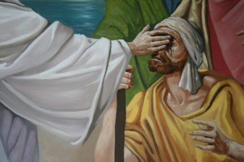 ciego Jesús curando al ciego