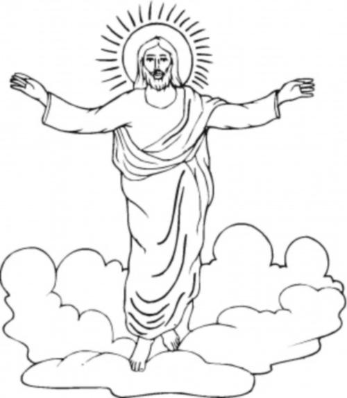 colorear domingo de resurreccion jesus pascua Imágenes cristianas infantiles de Jesús para colorear