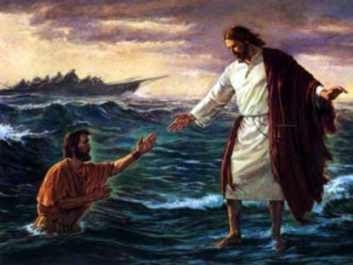 jesus camina sobre el agua e1357584750743 Imágenes de Jesús y sus milagros