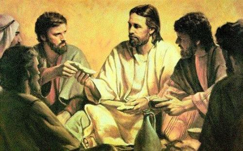 Jesus partiendo el pan