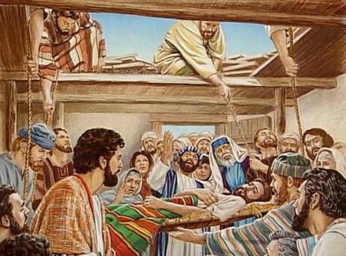 jesus cura al paralitico del techo Jesús cura al paralitico