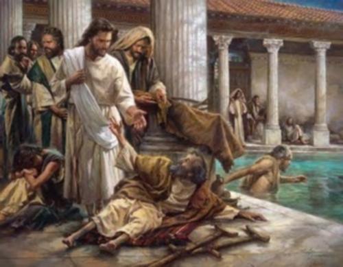 jesus cura al paralitico siloe Jesús cura al paralitico
