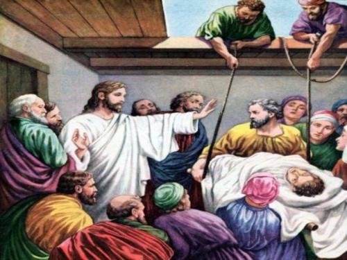 jesus sana a un paralitico 1 Jesús cura al paralitico