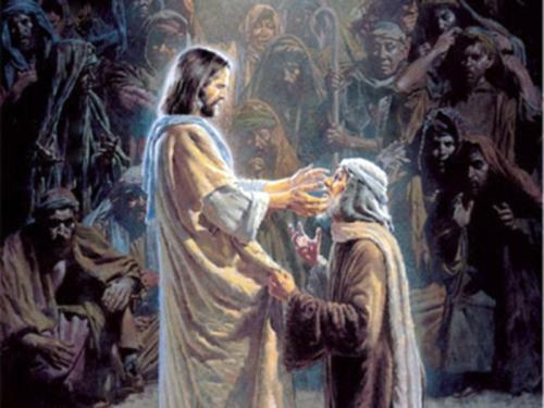 jesus sana al ciego Jesús curando al ciego