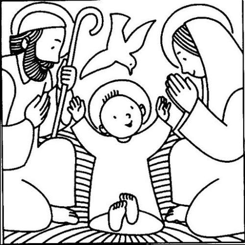 nacimiento jesus contetno gif Imágenes cristianas infantiles de Jesús para colorear