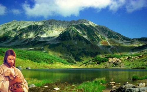 paisaje con Jesus Imágenes de Jesús en paisajes